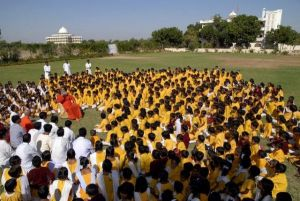 Gurukul -learning  at the feet of Gurudev
