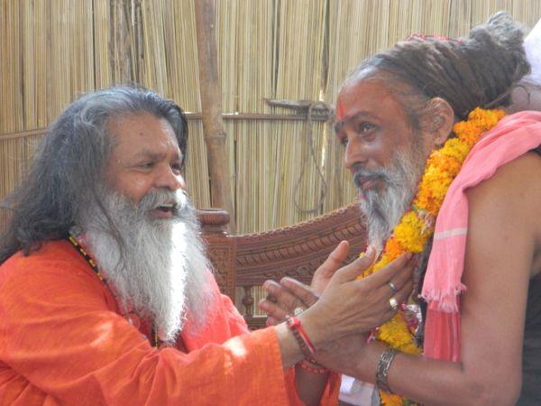 Paramhans Maheshwarananda at Brahma Dham