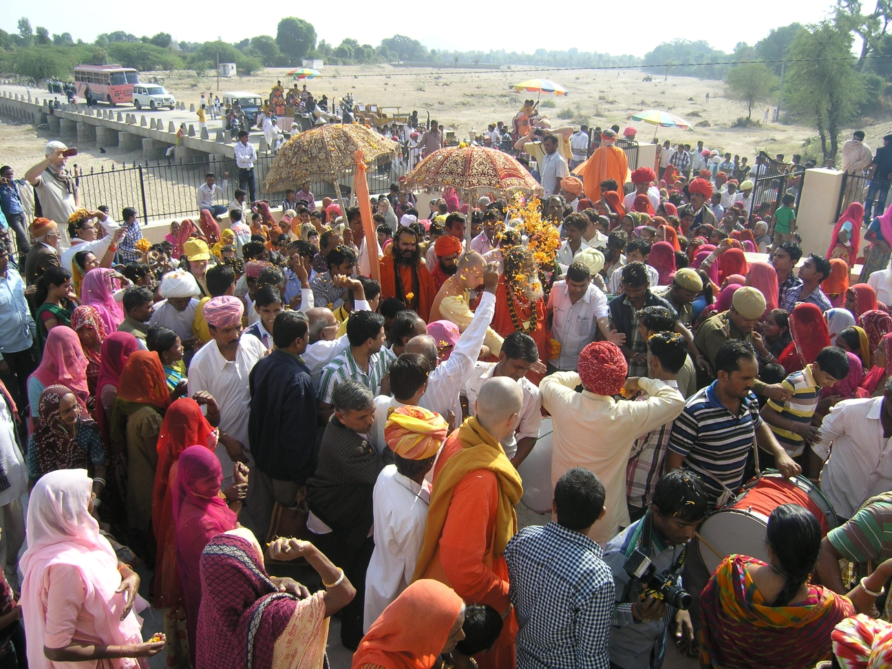 Procession at Nipal Ashram