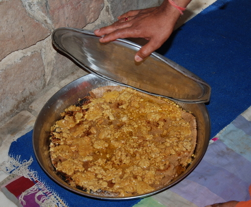3 Rot - extra big chapati with gur and oil prepared for Hanumanji's birthday
