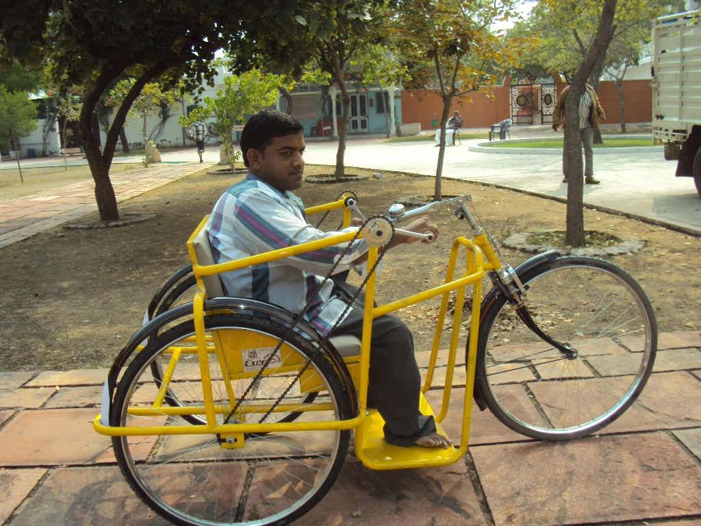 27 Prakash Sirvi from village of Kantaliya can now freely move around in the new wheelchair. He can finally attend college classes independently