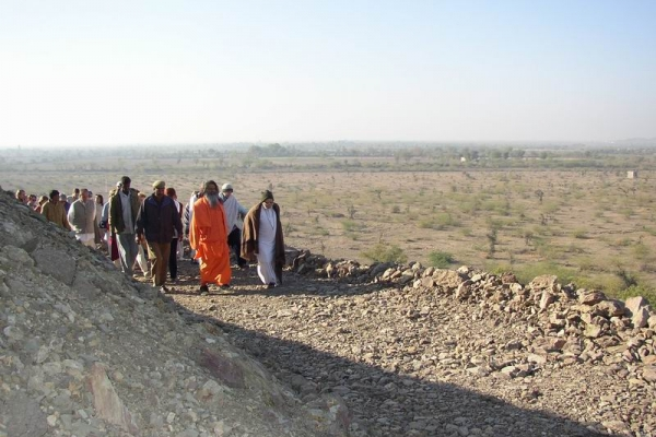 walking with swamiji