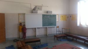 Jadan School - Classrom with whiteboard and projector