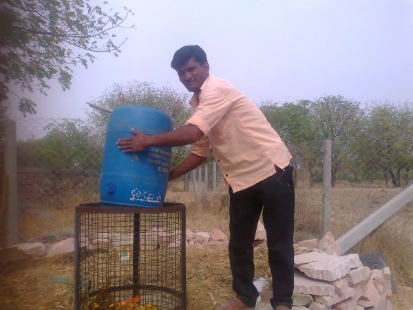 Composting in action
