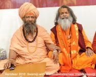 Swamiji with MM Vishokanandji during Kumbha Mela in Haridwar 2010