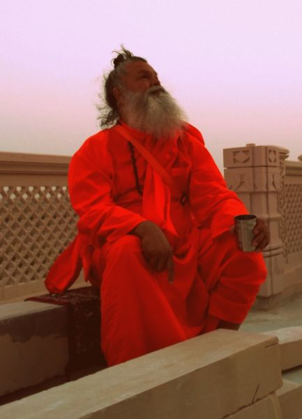 Vishwaguruji in Om Ashram
