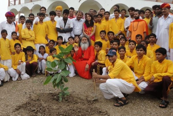 Swamiji's blessing at iccha world peace tree