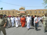 Swami Maheshwarananda at Brahma Dham