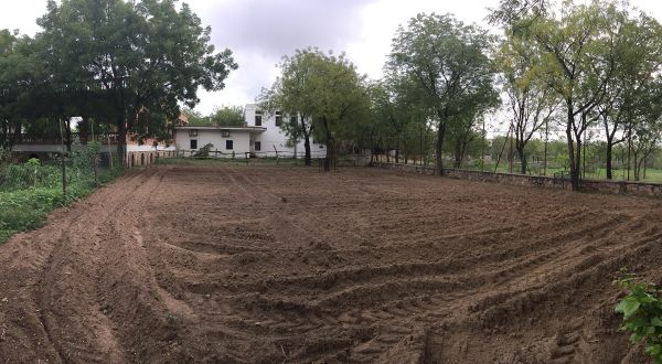 our corn and cucumber area - before planting