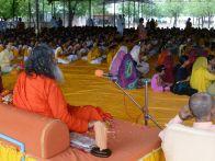 Swamiji and students