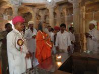 Swami Maheshwarananda at Brahma Temple